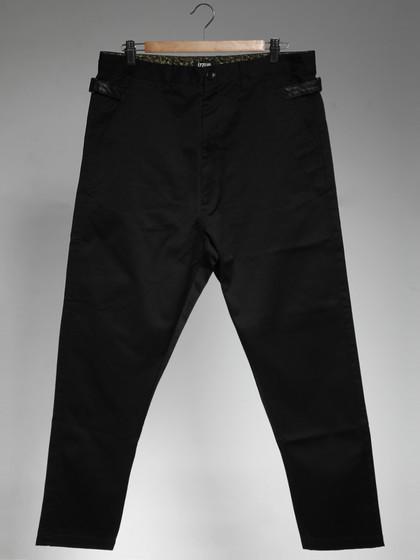 izzue 皮革装饰休闲裤