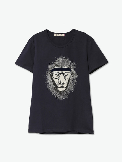 眼镜手绘t恤