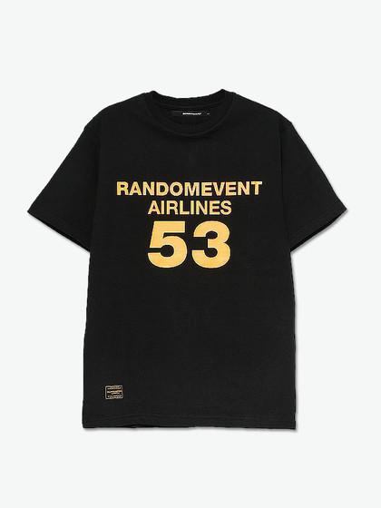 randomevent 数字logo印花短袖t恤