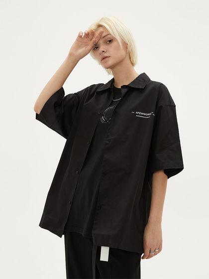 AFEWWORDS|AFEWWORDS|男款|衬衫|AFEWWORDS 品牌logo印花短袖衬衫