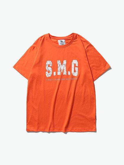 SMUDGE|男款|T恤|SMG LOGO印花短袖T恤