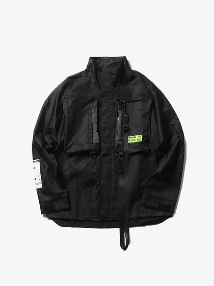 THETHING|男款|夾克|THETHING 戶外機能貼標夾克