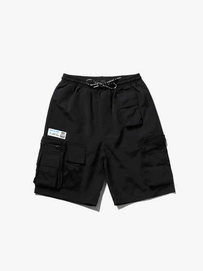 THETHING|男款|短褲|THETHING 多袋貼標工裝短褲