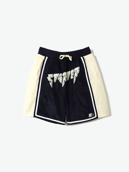 STARTER|STARTER|男款|短褲|STARTER BLACK LABEL拼色LOGO刺繡短褲