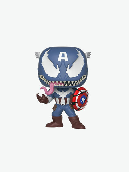 FUNKO|FUNKO|男款|玩具模型|FUNKO  POP Marvel: Marvel Venom - Venom/Captain  漫威 毒液POP公仔(毒液/美国队长)