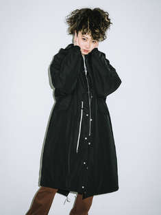 X-girl|女|X-girl HOODED PUFFER COAT